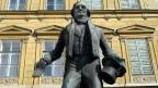 Das Johann Nestroy-Denkmal in Wien