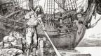 Zeichnung von Robinson Crusoe