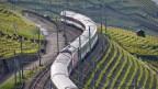 Ein Zug in einer Landschaft