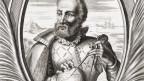 Schwarz-weiss-Porträt von Ferdinand Magellan