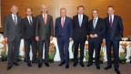 Vorstandsmitglieder der Landesbank Hessen-Thüringen, keine Frau dabei