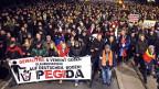 Eine Demonstration der «Patriotic Europeans against the Islamization of the West» (PEGIDA) in Dresden, 15. Dezember 2014.