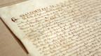 Nahaufnahme eines Teils der Magna Carta.