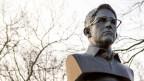 Büste von Edward Snowden in New York.