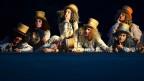 Eine Szene des Luzerner Freilichtspiels «Das Luftschiff» von Thomas Hürlimann unter der Regie von Livio Andreina waehrend einer Probe vom Freitag 5. Juni 2015 im Tribschen in Luzern.