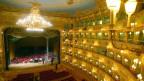 Innenansicht des Opernhauses Teatro La Fenice in Venedig.