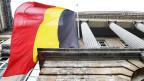 Ein wehende belgische Flagge