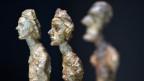 Gips-Büsten von Alberto Giacometti in der Ausstellung «Alberto Giacometti – Material und Vision» im Zürcher Kunsthaus.