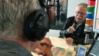 Wolf Biermann im Radiostudio
