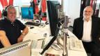 Röbi Koller und Manfred Papst im Radiostudio