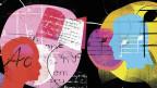 Illustration von Köpfen und Musiknoten