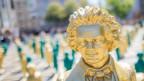 Goldener Kopf einer Beethoven-Statue