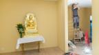 Eine Buddha-Statue im Haus der Religionen.