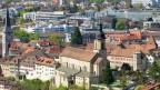 Foto des Bistum Chur, in der Mitte die Kathedrale St. Maria Himmelfahrt.