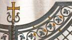 Russisch-orthodoxes Zeichen auf einer Eingangstüre