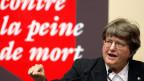 Helen Prejean spricht 2010 in Genf.
