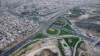 Man sieht die Stadt Teheran aus der Vogelperspektive.