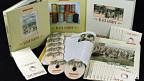 Die Bücher und CDs der Sammlung «Black Europe» in einem Stillleben präsentiert.