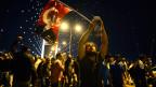 Protestierende in Instanbul.