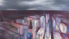 Abstrahiertes Gemälde einer Stadt