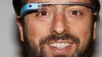 Die Google-Brille, hier getragen von Google-Mitbegründer Sergey Brin.