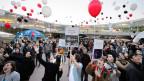 Demonstration für Horizon 2020 an der ETH Lausanne.