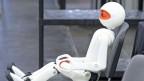 Ein Roboter am Robocup, Deutschland 2014.