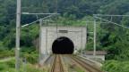 Der Eingang in den Seikan-Tunnel auf Honshu.
