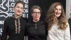 Petra Volpe (Mitte) mit Darstellerinnen ihres neuen Films «Die göttliche Ordnung».