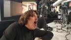 Rampensau im Radiostudio