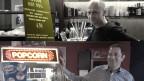 """Popcorn vs. Hot Dog: Hansjörg Beck (""""Rex"""" Wohlen) und Frank Braun (""""Houdini"""" Zürich) betreiben zwei unterschiedliche Kino-Konzepte - sind sich aber einig, dass das Geschäft momentan """"etwas flautig"""" ist. (Bilder/Montage: Reto Widmer)"""
