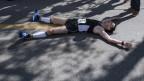 arathon-Mann: Ein erschöpfter Läufer am Zürich Marathon