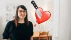 Die Grafikdesignerin Ivana Jovic und ihr Emoji