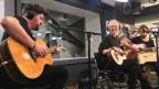 Stefanie Heinzmann und ihre Bandkollegen live bei SRF 3