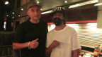 Damian Marley nach seinem Konzert im Zürcher Kaufleuten mit Lukie Wyniger