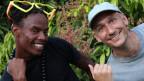 Der Tänzer Shakespeare mit dem Leihen und Reggae Special-Macher Lukie Wyniger in Kingston