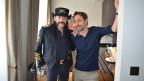 Lemmy Kilmister (links) und SRF 3-Moderator Dominic Dillier.