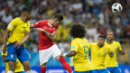 Ein seltenes Bild, ist doch Rekord-Weltmeister Brasilien normalerweise der Schweiz fussballtechnisch weit überlegen. Der Ausgleichstreffer an der WM zum 1:1 am 17.6.18.