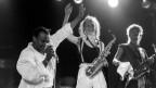 Mory Kanté präsentiert seinen Riesenhit «Yéké Yéke» am Jazzfestival Montreux am 3. Juli 1988. Ende März feierte er bereits seinen 70. Geburtstag.