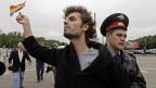 Homosexualität ist beispielsweise in Russland gesellschaftlich stark tabuisiert Wer deswegen verfolgt wird, hat in der EU Recht auf Asyl. Archivbild.