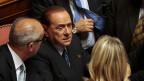 Silvio Berlusconi im Gespräch mit Senatoren am 2. Oktober in Rom.