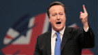 Der britische Premierminister David Cameron an der jährlichen Conservative Party in Manchester am 2. Oktober 2013.