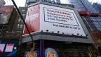Eine Plakatwand in New York. Das Plakat, bezahlt von der konservativen «Heritage Foundation», wirbt gegen «Obamacare