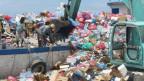 Abfallberge auf den Malediven