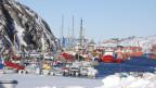 Blick auf den Hafen in Nuuk 8. März 2013. Grönland verfügt über riesige Bodenschätze.