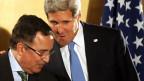 Vertrauliche Gespräch zwischen US-Aussenminister John Kerry und seinem ägyptischen Amtskollegen.