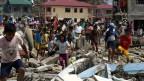 Im Katastrophengebiet sind viele Orte komplett zerstört.