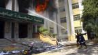 In der Universität in Kairo wurde Feuer gelegt.