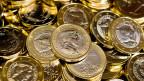 Die lettischen Euro-Münzen sind gestanzt.