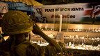 Trauerkerzen für die Opfer des Terroranschlags in Nairobi